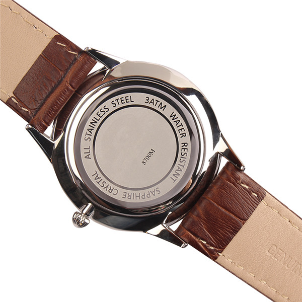 Stainless steel case 3ATM waterproof quartz quality men's watches
