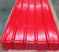 2014 new design red color coated house building roof tiles from factory