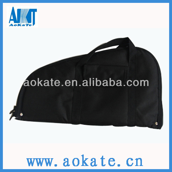 black hand gun case or bag for gun accessories