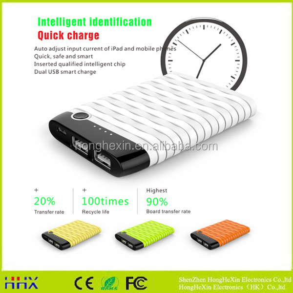 2017 CE Approved portable charger li-polymer battery shenzhen power bank