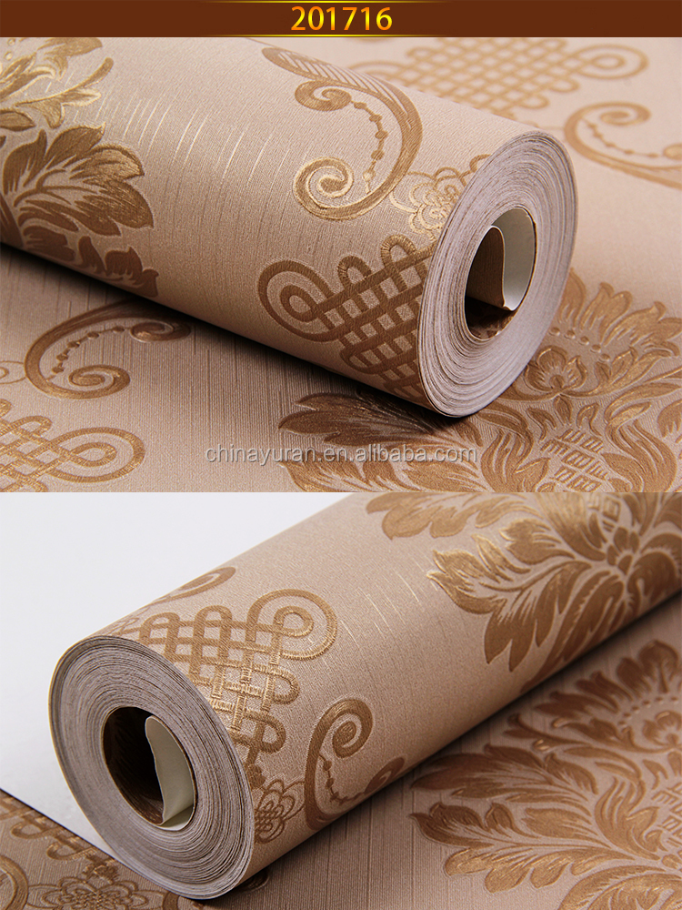 beautiful color classical design chinese 3d wallpaper for home decoration
