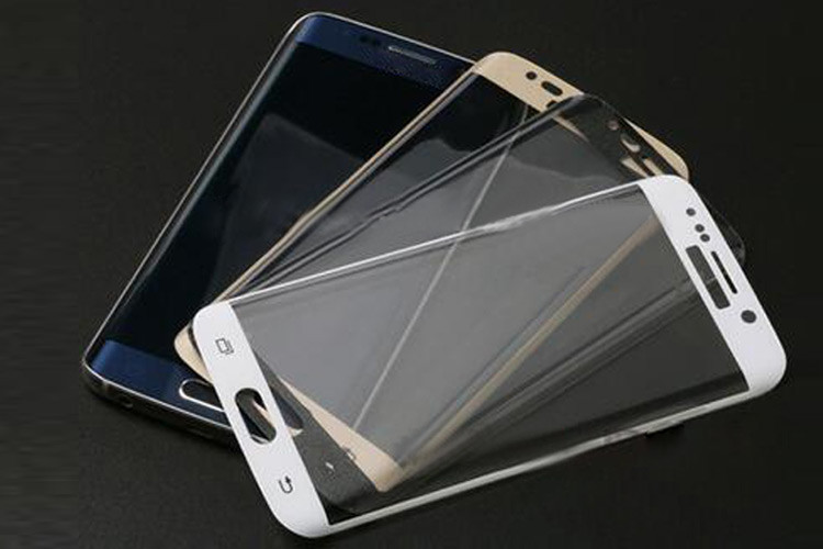 Wholesale 2.5D Anti-fingerprint 9h tempered glass screen protector for samsung s7 edge