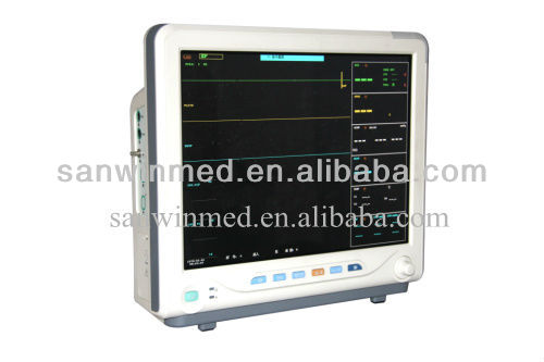 15'' Large Screen CE approved veterinary multi- parameter Patient Monitor SW9100 hospital equipment