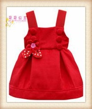kids beautiful model velvet frock design winter vest dress for infants