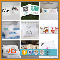 Cheapest Price Wholesale 100% Polyester Printing Pillow Cases / Pillow Covers