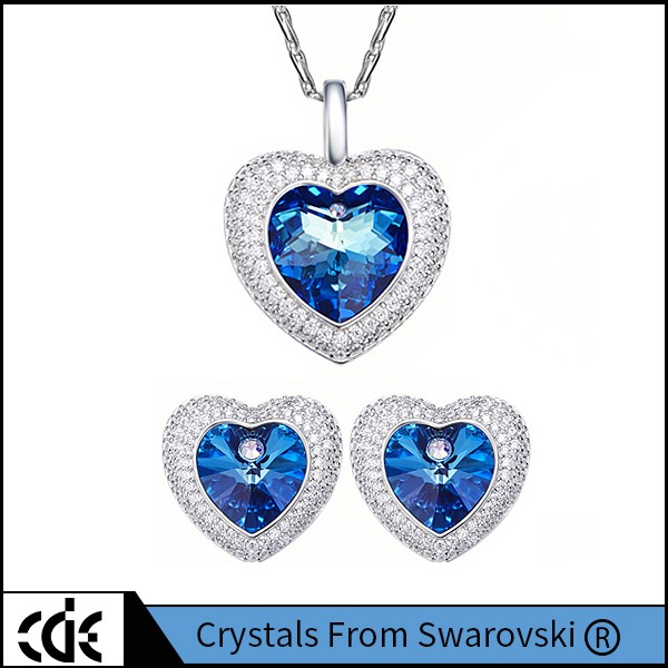 Crystals from Swarovski Large Crystal Fashion Necklace Jewelry