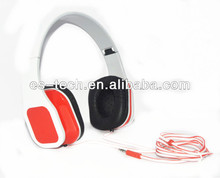 Stereo computer earpiece, red & white color