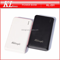 KL-231 Large Capacity 10000mah Portable Slim 1.5A Input Mobile Power Bank