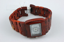 2016 new watch Wholesale 100% natural wood, Customized Red Sandalwood watch for men