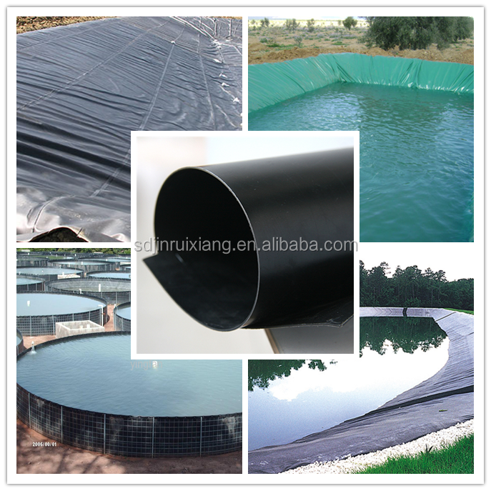 ASTM 1.0mm HDPE Geomembrane Waterproof Pond Liner