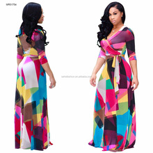 Factory price Wholesale African styles fashion printing maxi dresses for women