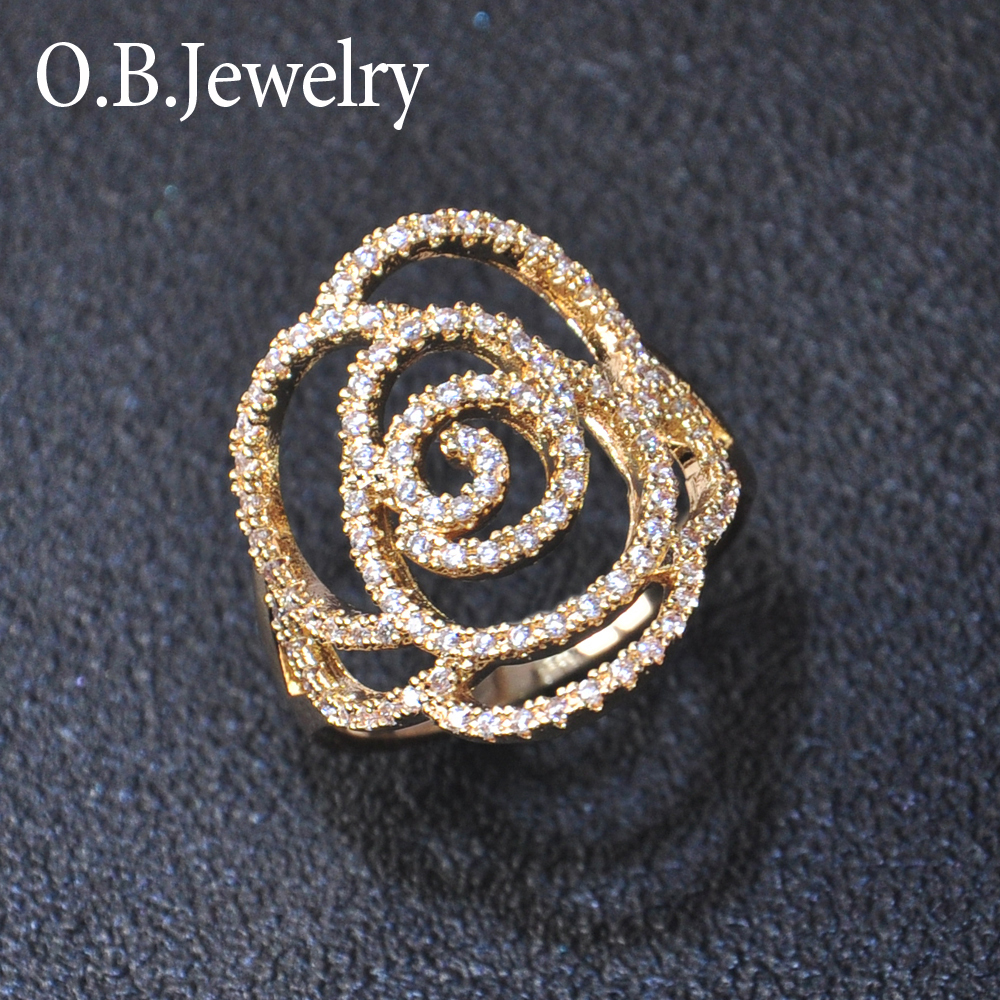 OB Jewelry-New Arrival Real Gold Plating New Gold Ring Mould For Man