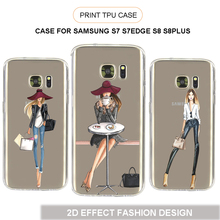2017 UV Printing Personalized Custom Printed Phone Case For Samsung Galaxy S7 S7 EDGE S8 S8 PLUS Cover Cell Phone Case
