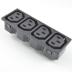4 outlet way IEC C13 female connectors, PDU socket, inductrial power strip