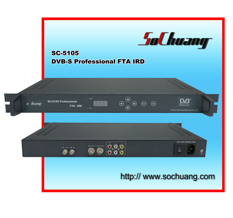 1-Channel Satellite Receiver/DVB-S2 Decoder