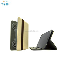 Two fashion color ,white and black universal leather case for ipad ,the special outside line .