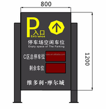 Automatical Car Parking Guidance System, available lots auto detect and display