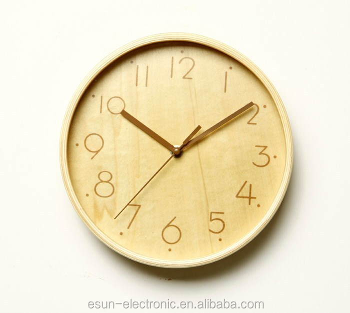 2015 new style 9 inch Luxury art wood wall Clock/ Gift clock/Promotional clock