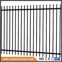 Easily Assembled PVC Coated or Powder Coated garden fence metal fence panel