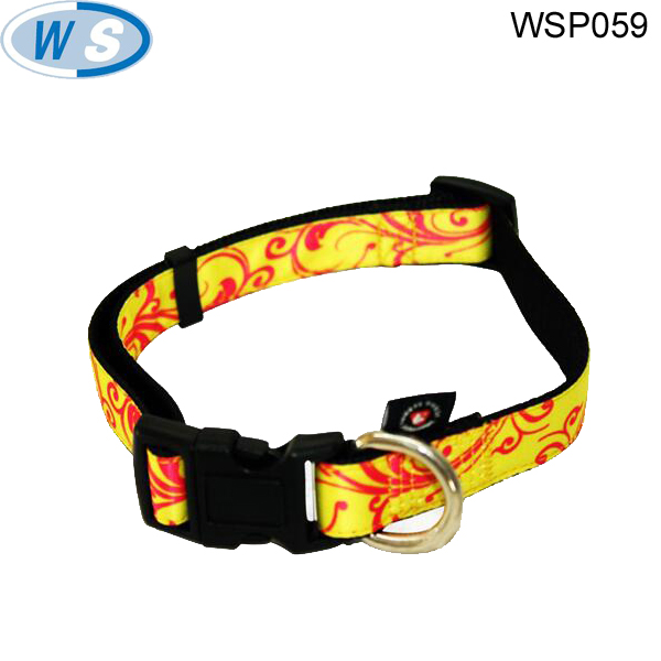Promotional eco-friendly nylon ribbon dog collar from China famous supplier