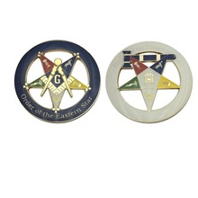 Masonic OES star auto badge and round shape car emblems