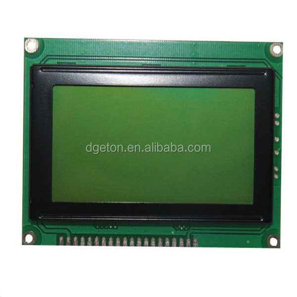 Graphic Monochrome LCD Module , Yellow-green Digital LCD Display