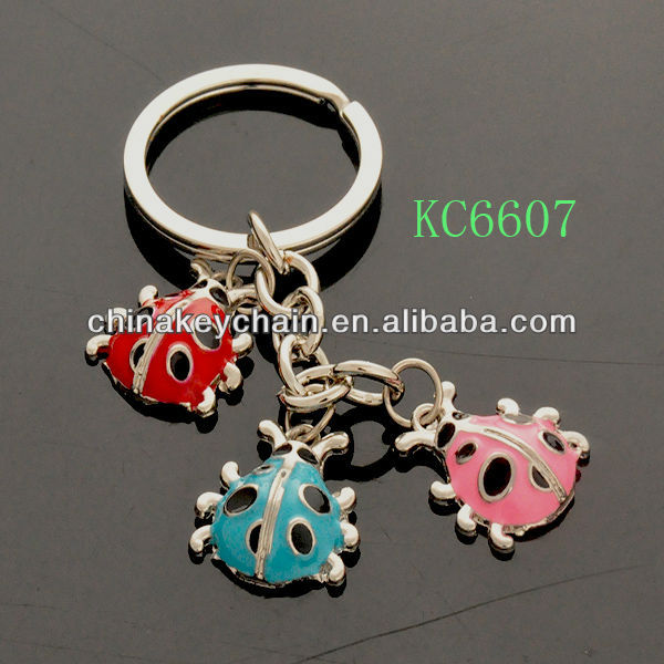 Wholesale decorative mini insect cute keychain
