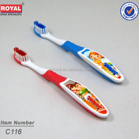 kids tooth brush printed pictures in handle