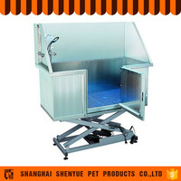 Functional Stainless Steel Pet Grooming Bathtub For Dogs
