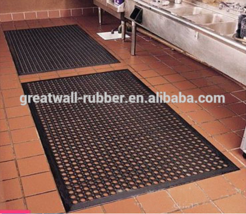 Anti Fatigue Product-Interlocking Rubber Mat With Drainage Hole,Kitchen Mat Prevention Tiredness