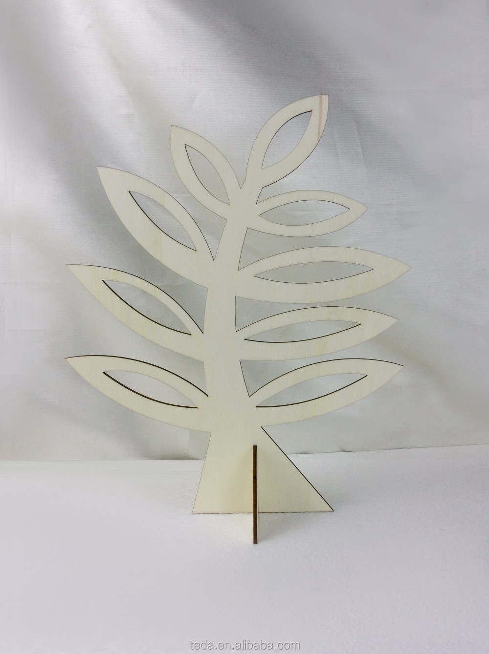 Wooden Christmas Tree Stand On Table