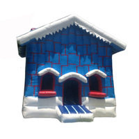commercial grade Christmas cottage inflatable bouncer/ jumping bouncy castle/ Christmas moon bounce house jumper moonwalk