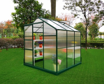 Cheap home outdoor garden plastic polycarbonate mini greenhouse equipment kit GL023