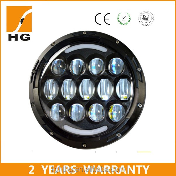 4d 75W 7inch 12v 24v high low beam round 4x4 led headlight for motorcycle car lights led hid off road light
