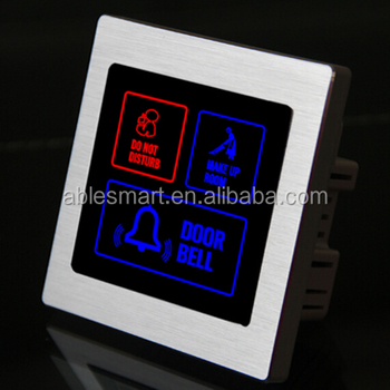 Hotel metal frame Intelligent touch doorbell switch