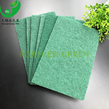 Tub soap scum eraser / Green nylon sponge scouring pad / kitchen cleaning sponge scrubber