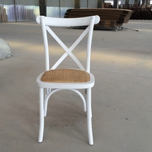 Best Seller Rattan Birch Wood X Cross Back Dining Chair
