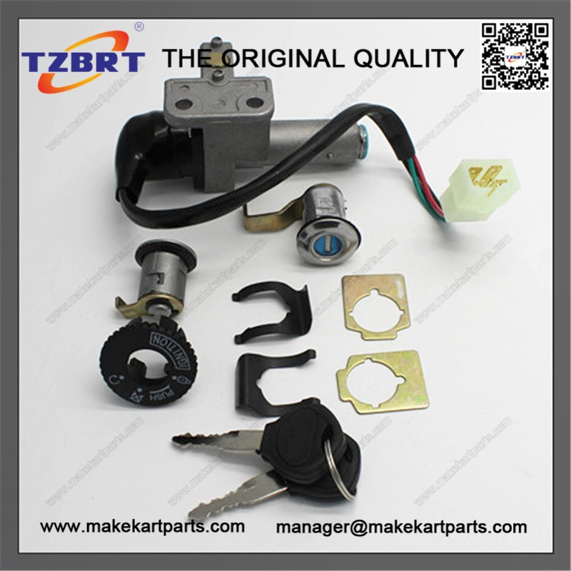 High Quality 125cc T2 motorcycle lock set ignition switch fuel tank cap motorcycle parts
