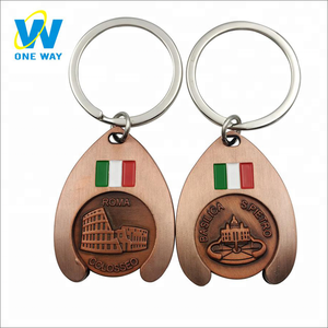 Wholesale Fashion Logo Metal Keychain Souvenir Manufacturers Custom Keychain