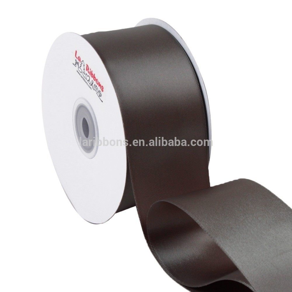 Wholesale vanilla satin ribbon double sided satin