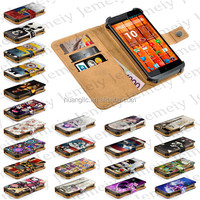 "5""Jemeiy Original Printing PU Leather Universal Mobile Phone Wallet Cover For Highscreen Boost 2 SE With Stand & Card Slots"