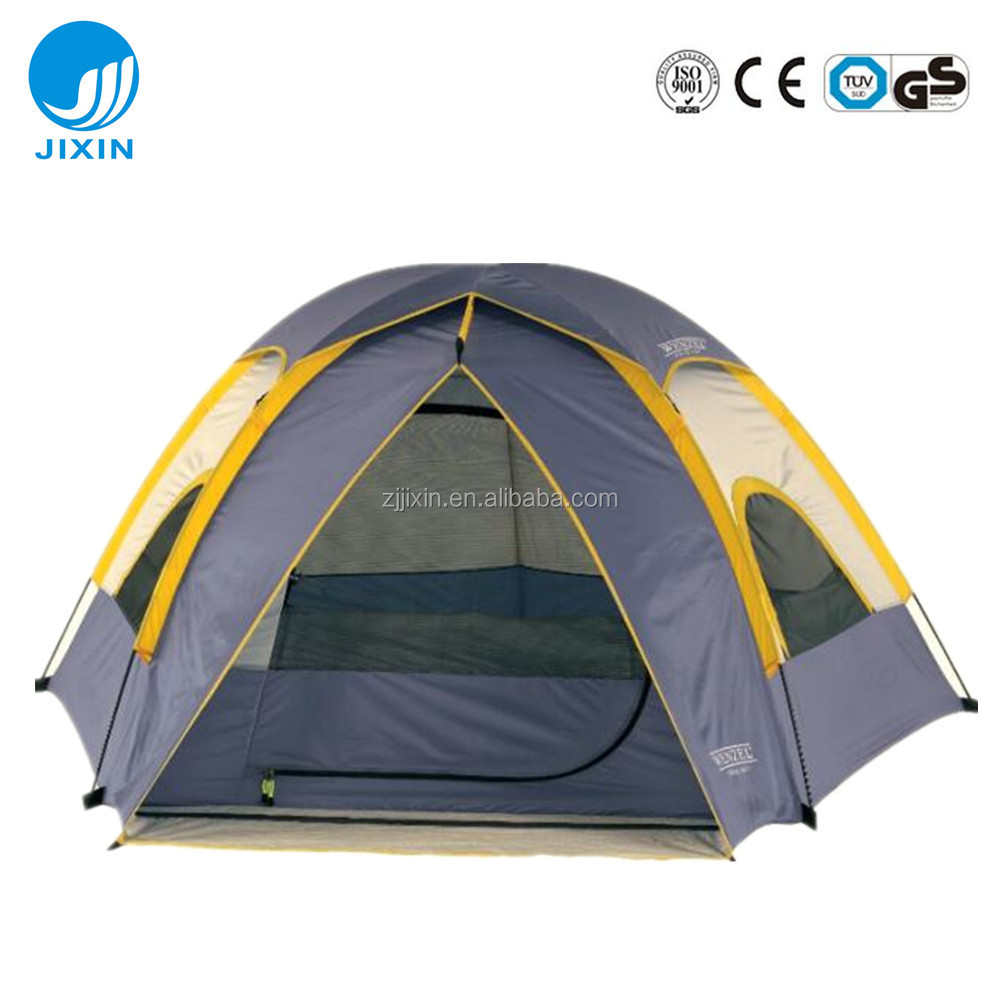 Double layers Big roof 5 person outdoor camping tent