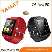 latest made in china BT sync watches 1.44 inch touch panel U8 smart watch support remote camera