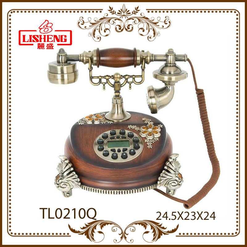 Fancy home corded phone hotel decorative antique imitation telephone