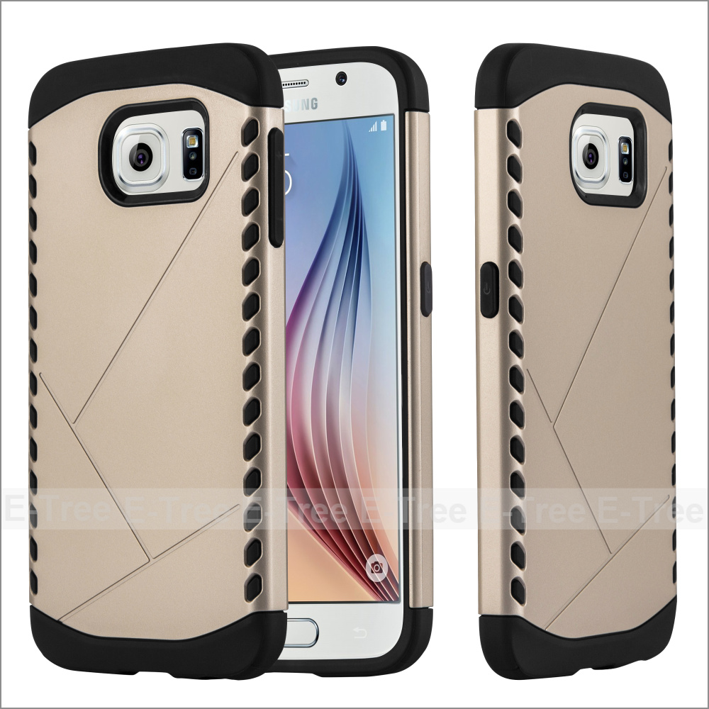 Hybrid Plastic TPU Hard Back Cover Shield Phone Case for Samsung Galaxy S6