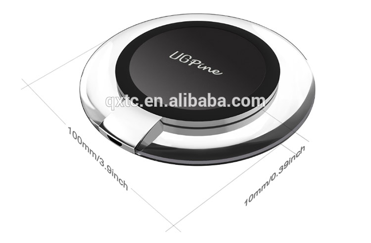 Cell phone Qi wireless charger magnetic induction charger for samsung smart phone
