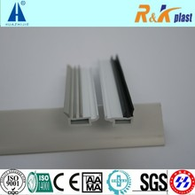 Rubber co-extruded white upvc profiles single glazing beads for window and door