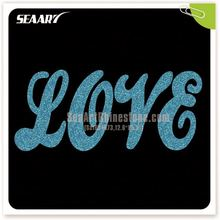 Custom Live Love Cheer Glitter Motif Hotfix Rhinestone Transfer Factory Price Wholesale