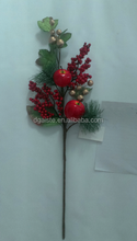 Red apple stick personalized artificial plastic Christmas indoor ornament