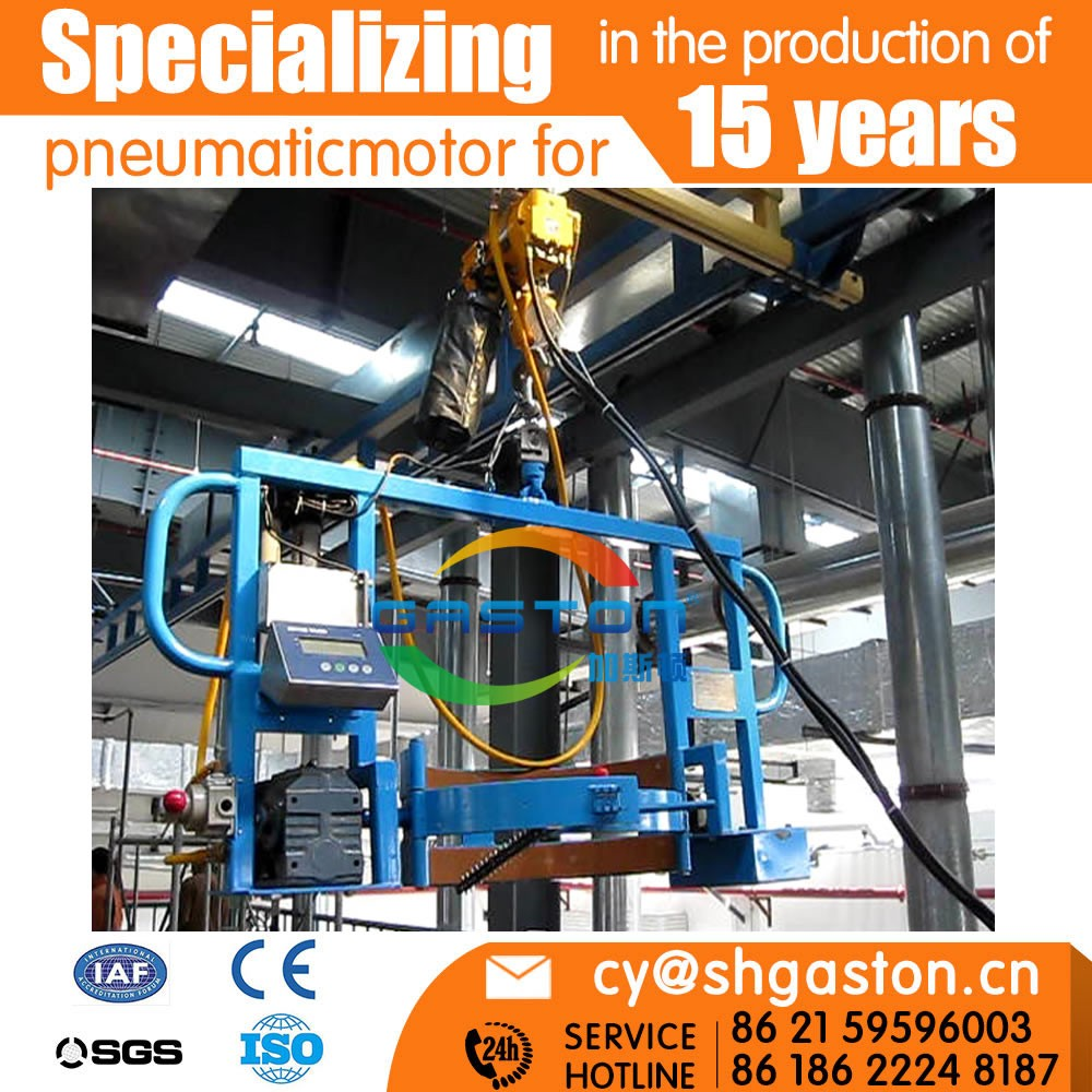 weighing pneumatic rotary batch turning track system/air hoist mobile crane 2 ton/Pneumatic hoist